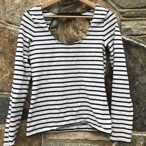 Victoria's Secret fitted striped shirt